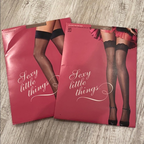 NWT Victoria's Secret Thigh highs in Nude